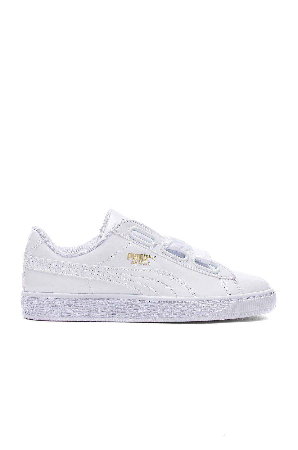 Puma Basket Heart Patent Sneaker in Puma White