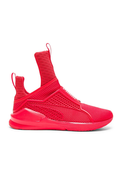 puma fenty trainers red