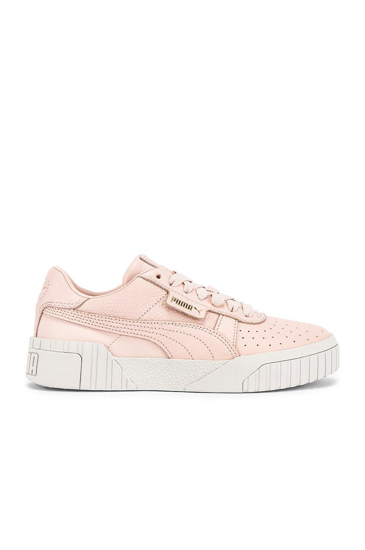 Puma Cali Emboss Sneaker in Cream Tan