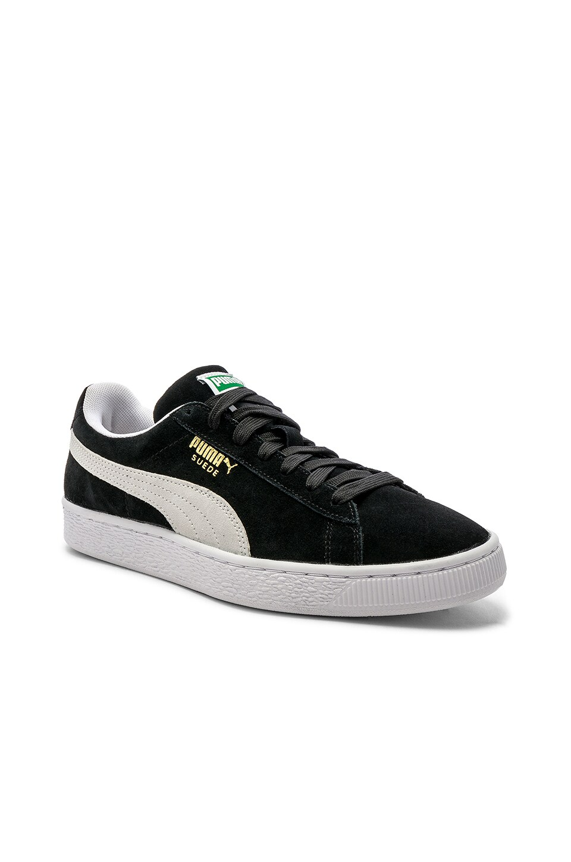 Puma Select Suede Classic in Black & White
