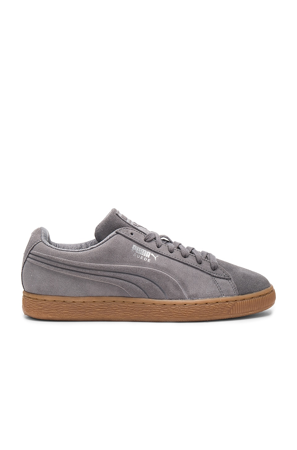 Puma Select Suede Debossed in Steel Gray & Peacoat