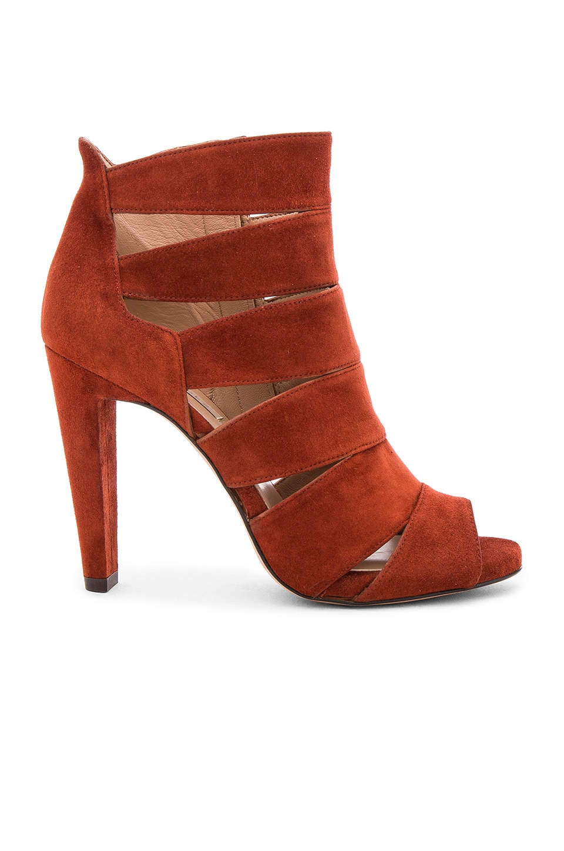 Pura Lopez Cutout Heel in Suede Cotto