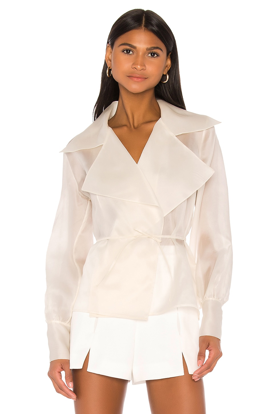 Piece of White Charlotte Blouse in Ecru