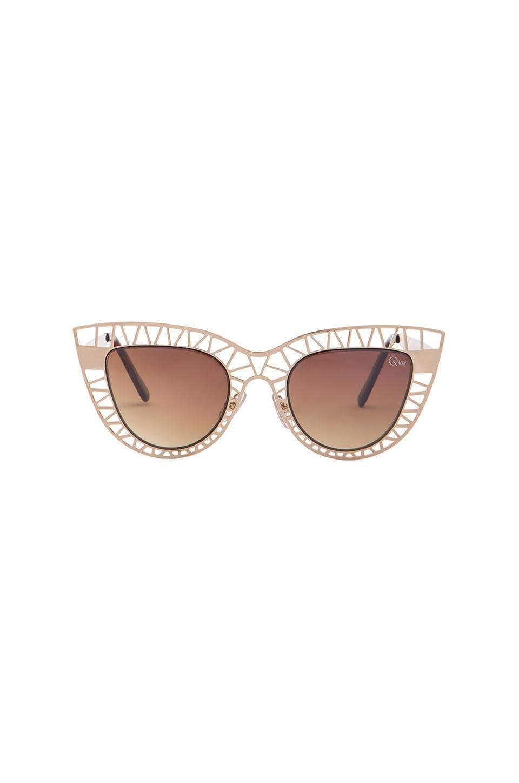 Quay Steel Cat Sunglasses in Gold