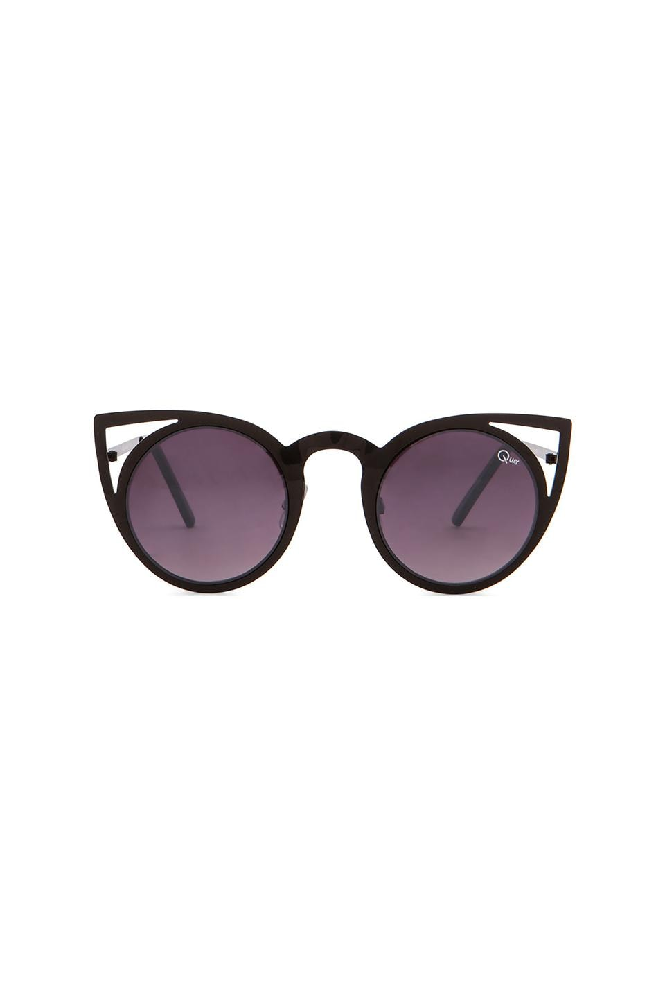 Quay Invader Sunglasses in Black