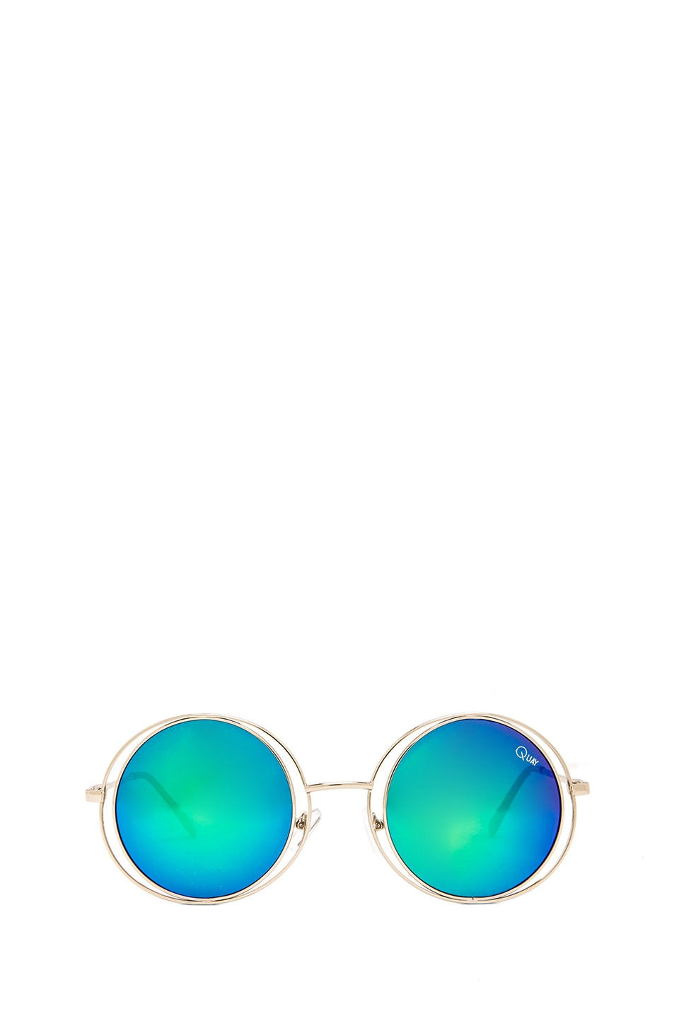 Quay Cherish Sunglasses in Silver Green