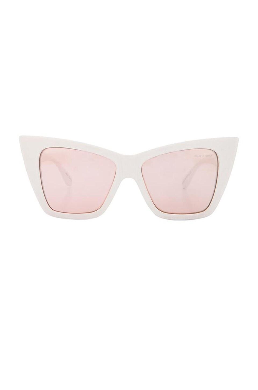 Quay x Shay Mitchell Vesper Sunglasses in White
