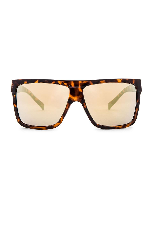 Quay Barnun Sunglasses in Tort & Gold Mirror