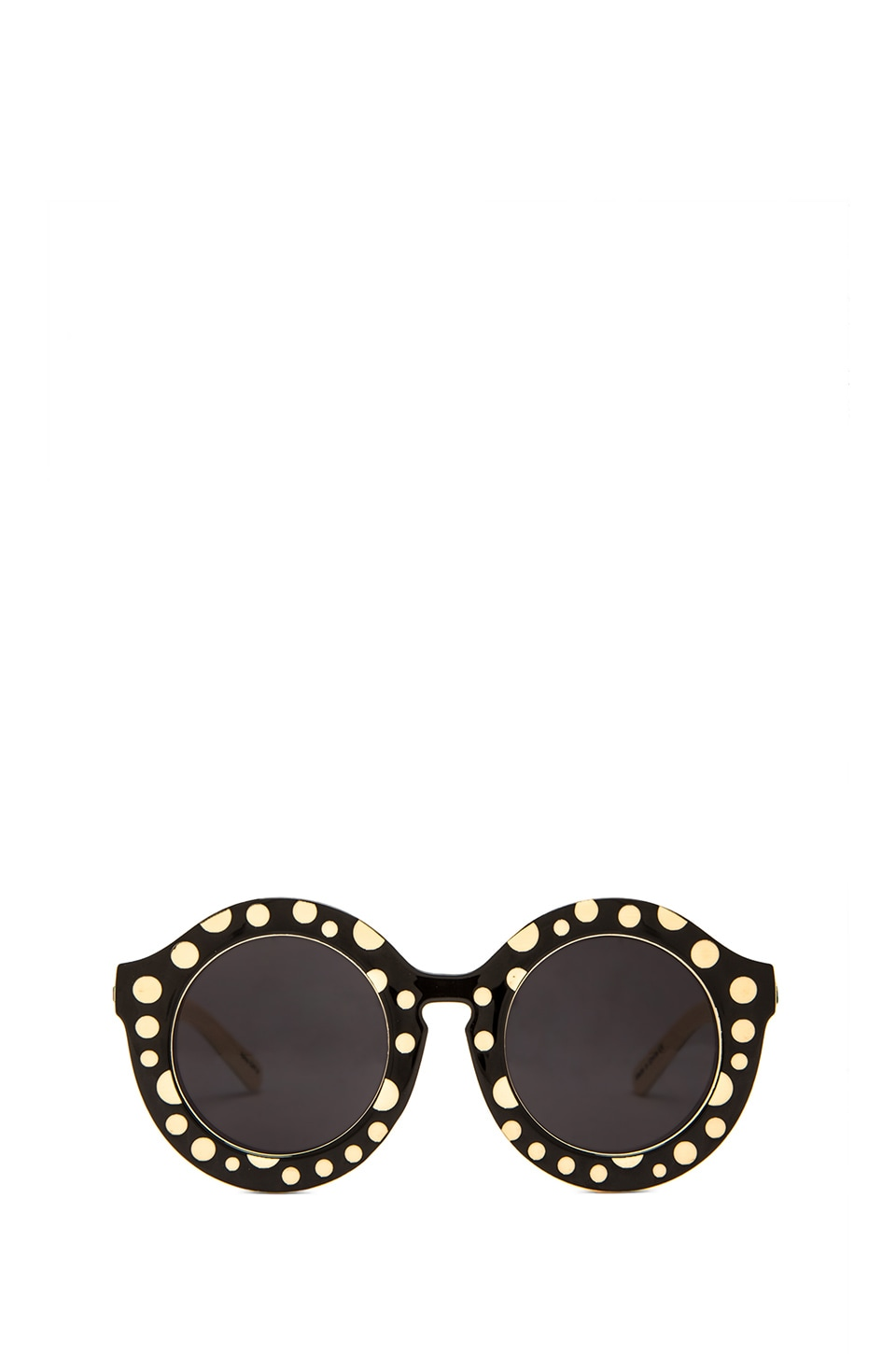 Quay Penelopy Sunglasses in Black Polkadot