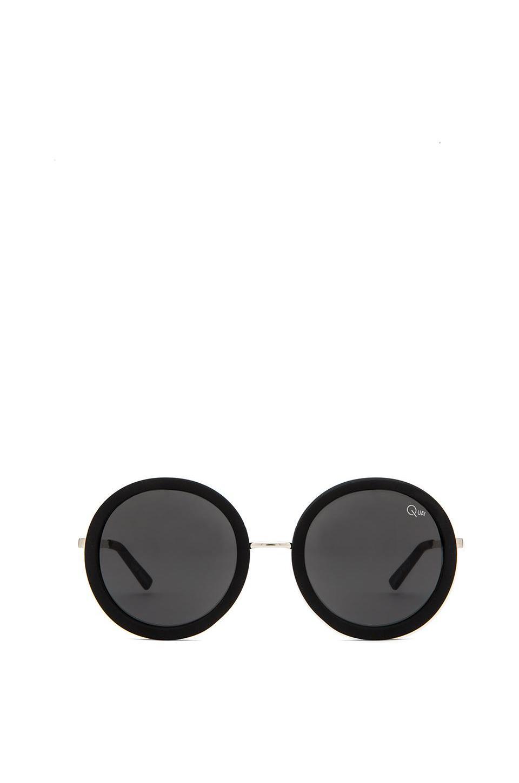 Quay Bonny Sunglasses in Black & Silver