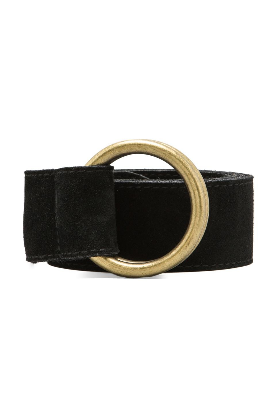 Rachel Pally Suede Belt in Black
