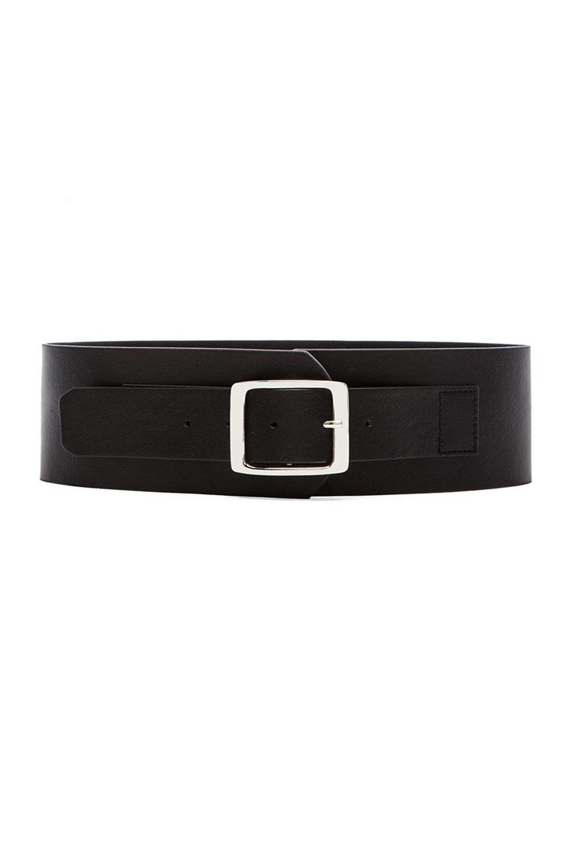 Rachel Pally Wide Leather Belt in Black