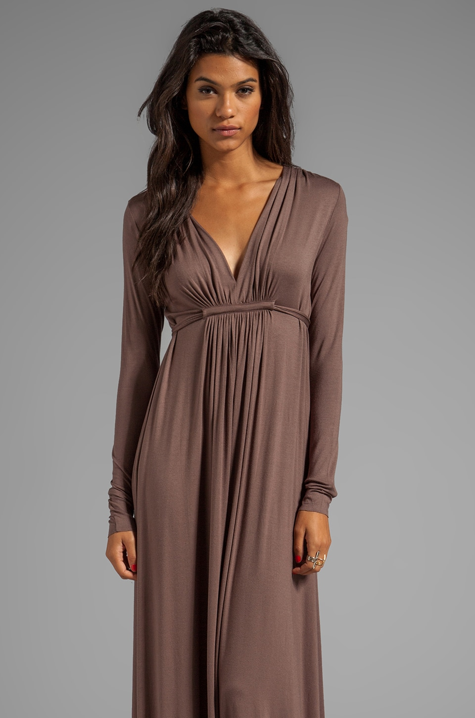 Rachel Pally Long Sleeve Full Length Caftan Dress in Alloy