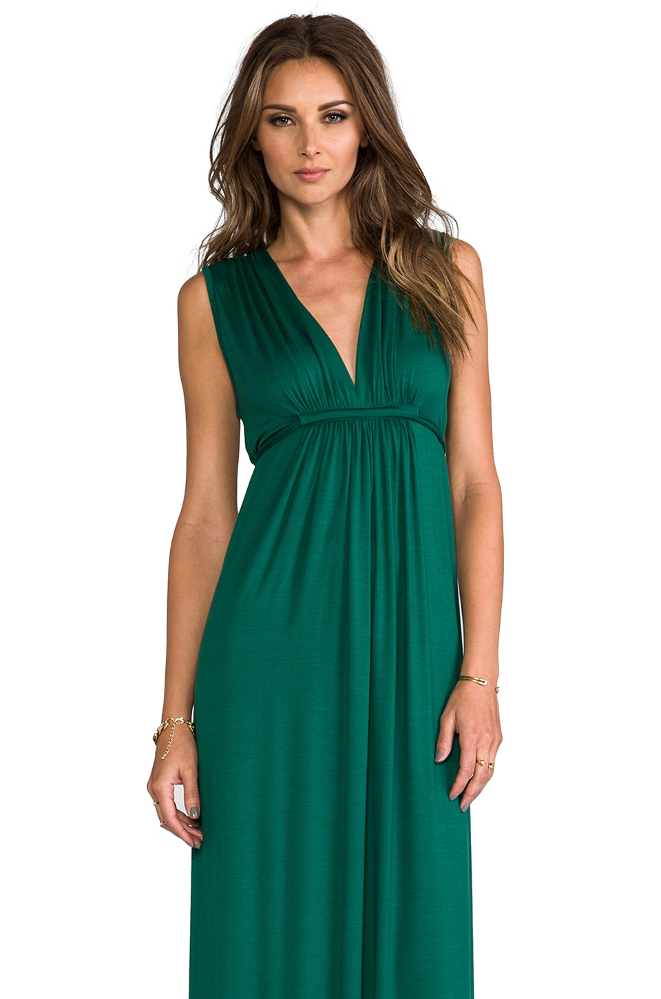 Rachel Pally Long Sleeveless Caftan in Malachite