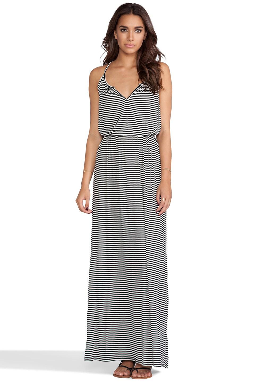 Rachel Pally Rib Rayne Dress in Black Stripe