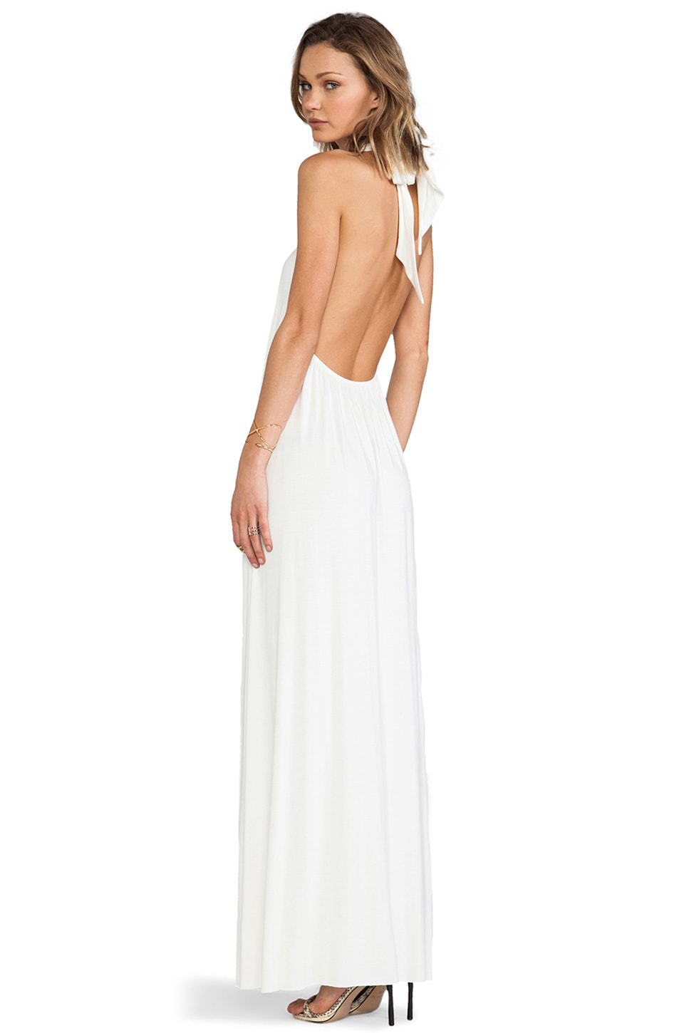 Rachel Pally Renee Halter Dress in White