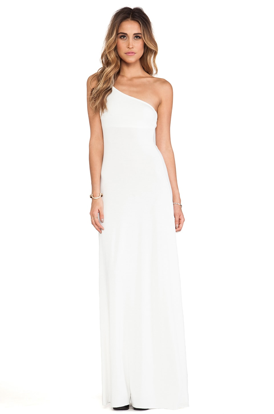 Rachel Pally Conrad One Shoulder Dress in White