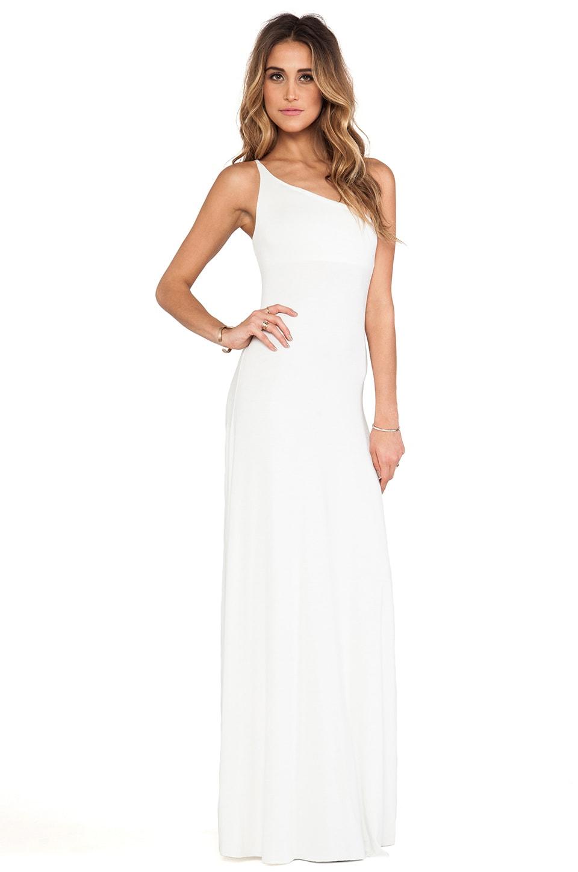 Rachel Pally Conrad One Shoulder Dress in White - REVOLVE