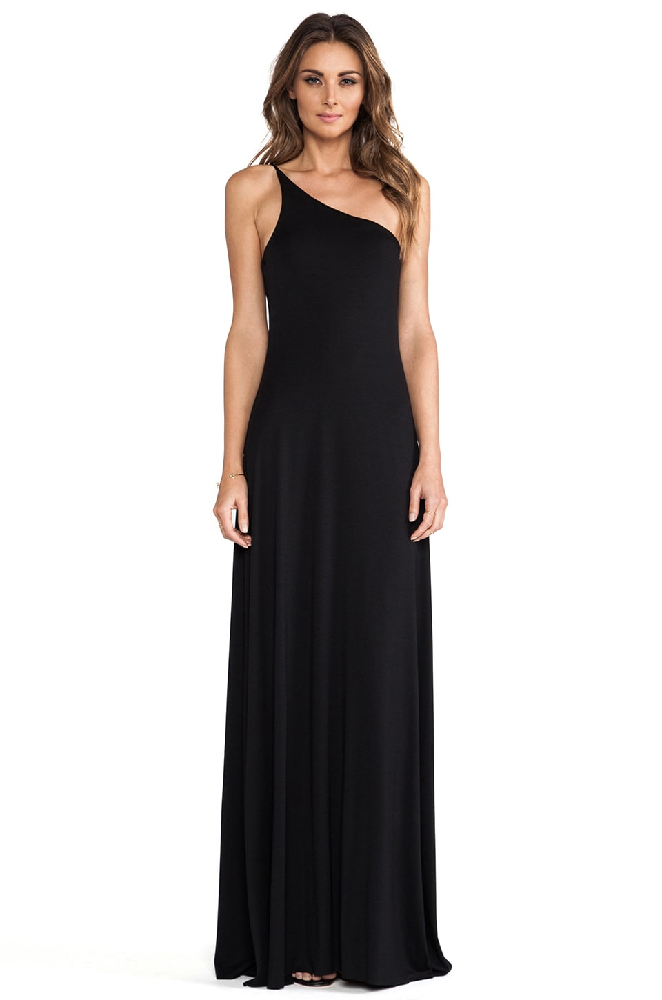 Rachel Pally Conrad One Shoulder Dress in Black
