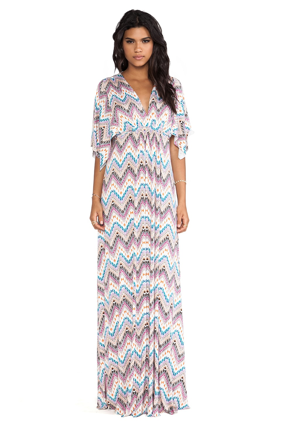 Rachel Pally Long Caftan Dress in Zig Zag