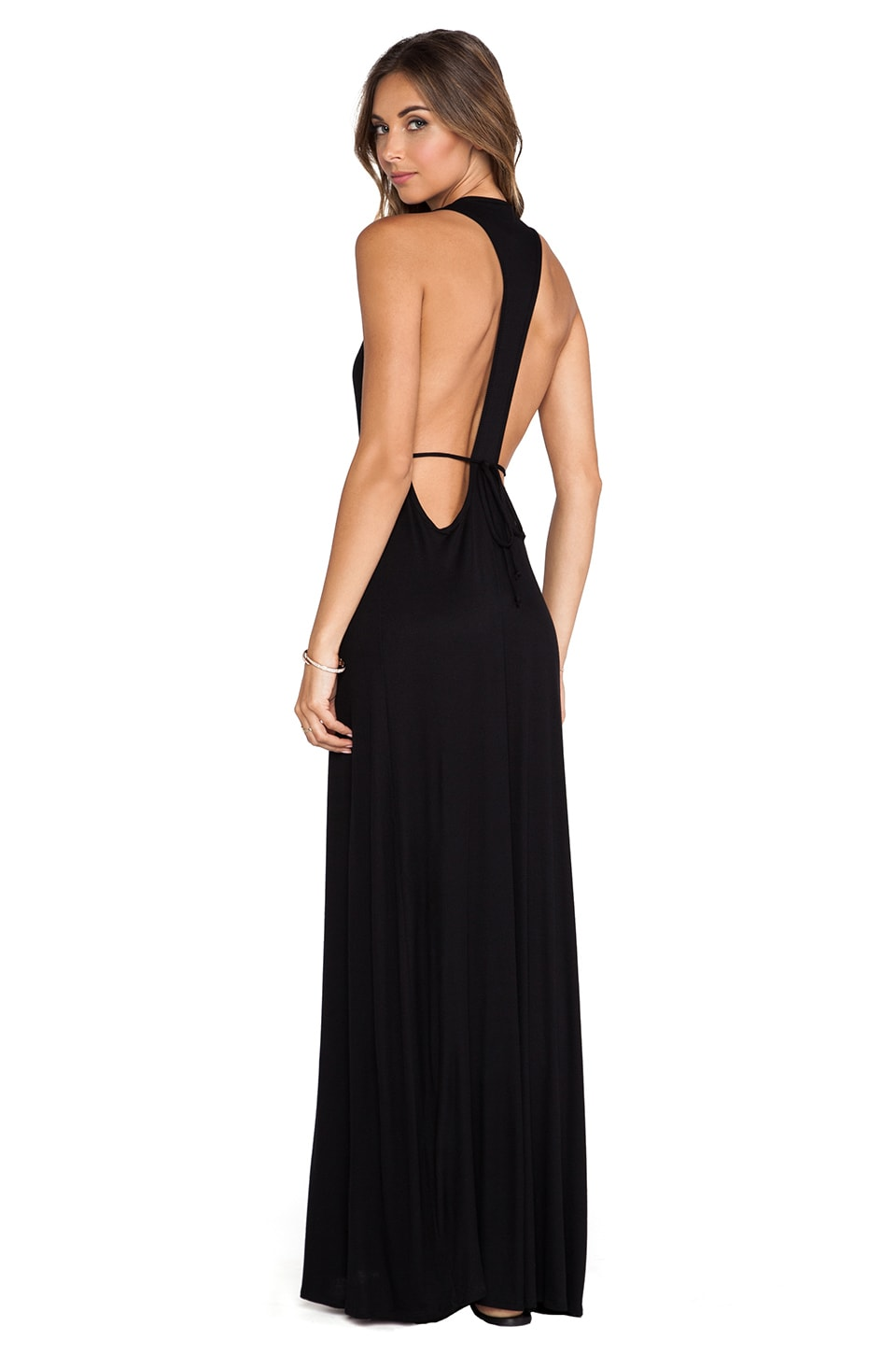 Rachel Pally X REVOLVE Rib Iona Maxi Dress in Black