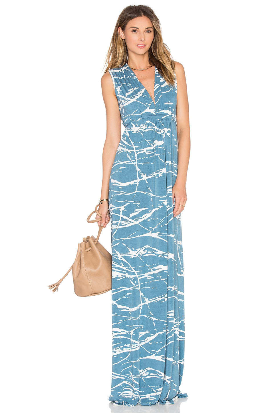 Rachel Pally Sleeveless Maxi Caftan in Moonflower Reverie