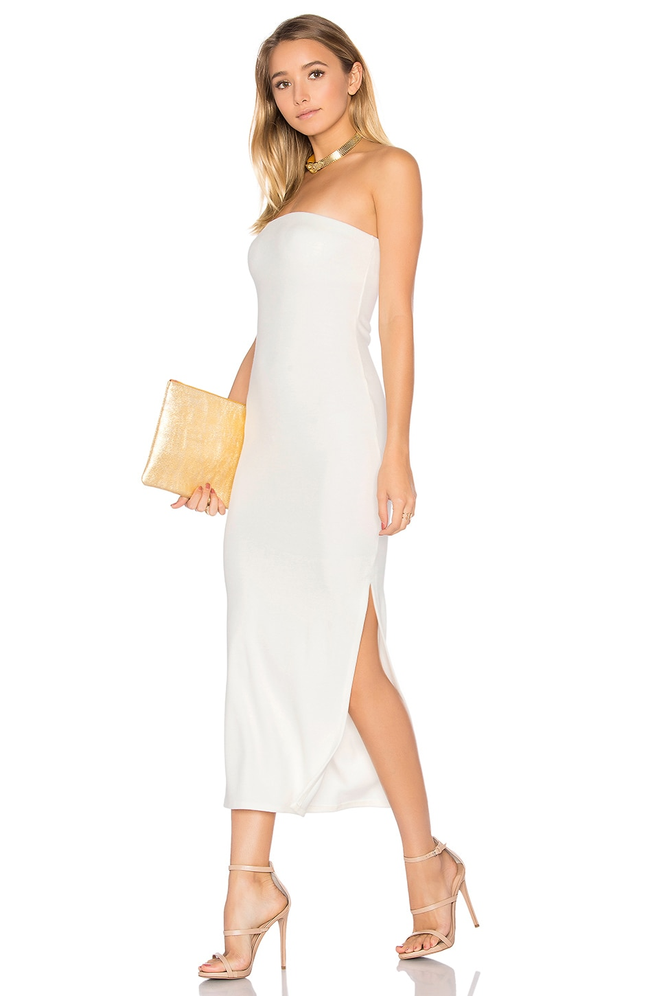 Rachel Pally Luxe Rib Bobbi Dress in ivory