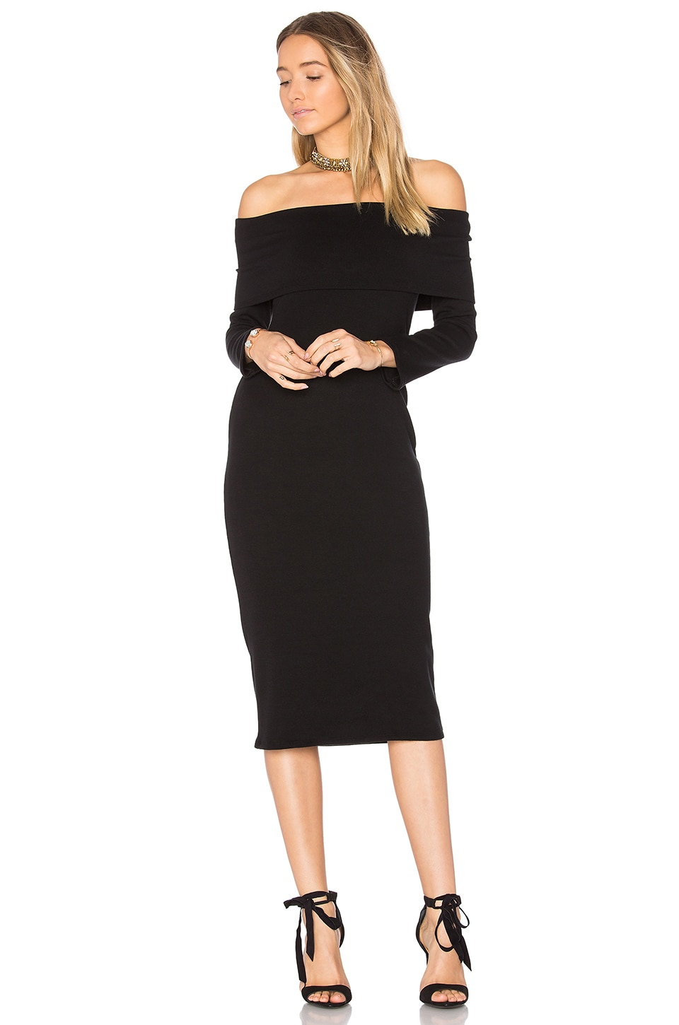Rachel Pally Luxe Rib Welsy Dress in Black