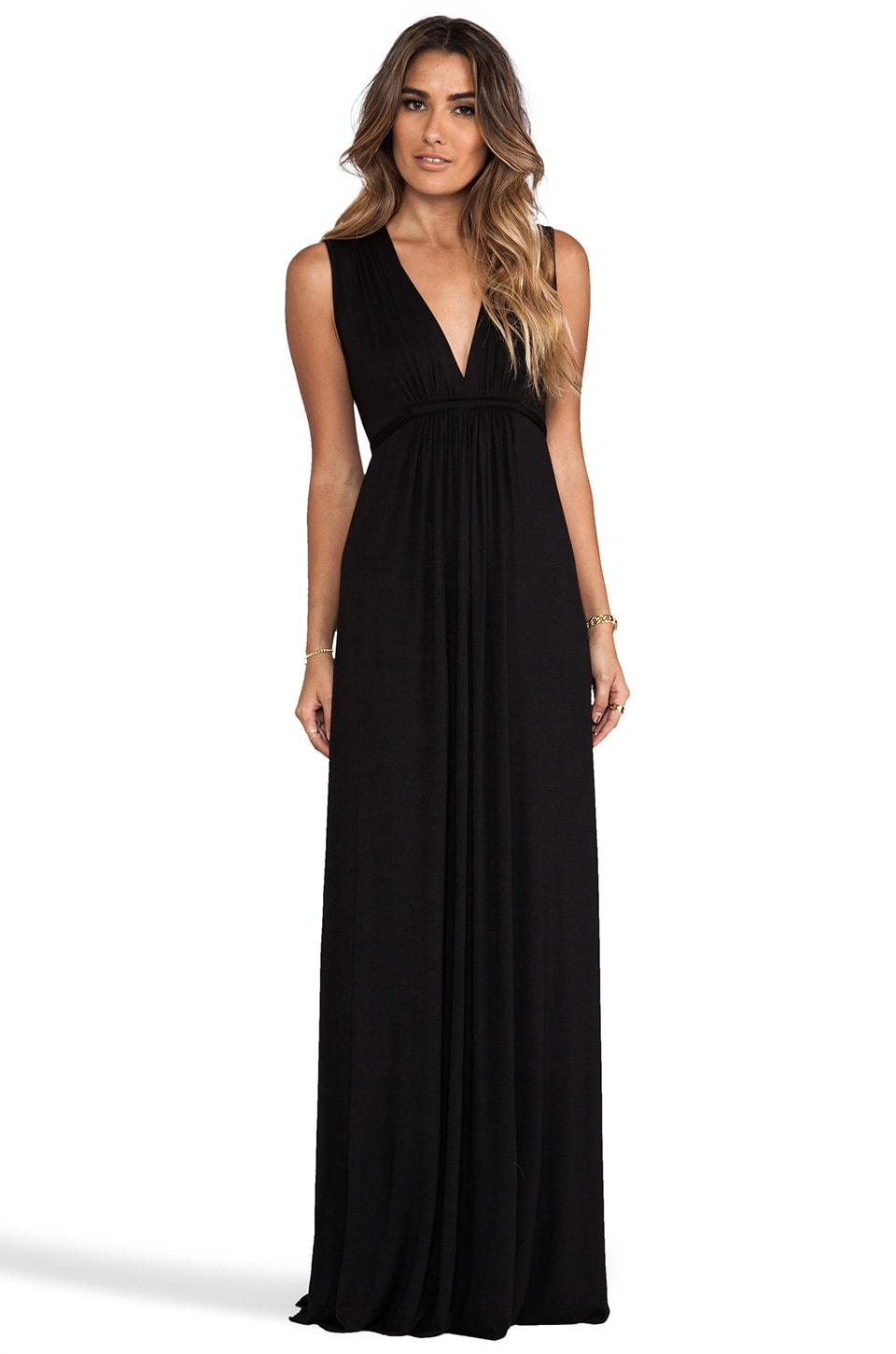 Rachel Pally Long Sleeveless Caftan in Black