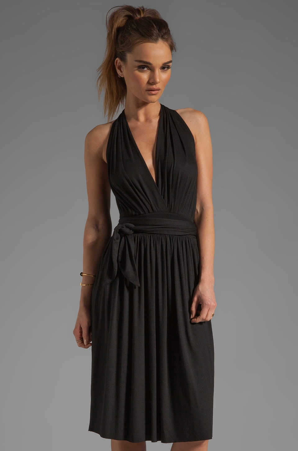 Rachel Pally Brigitta Halter Dress in Black