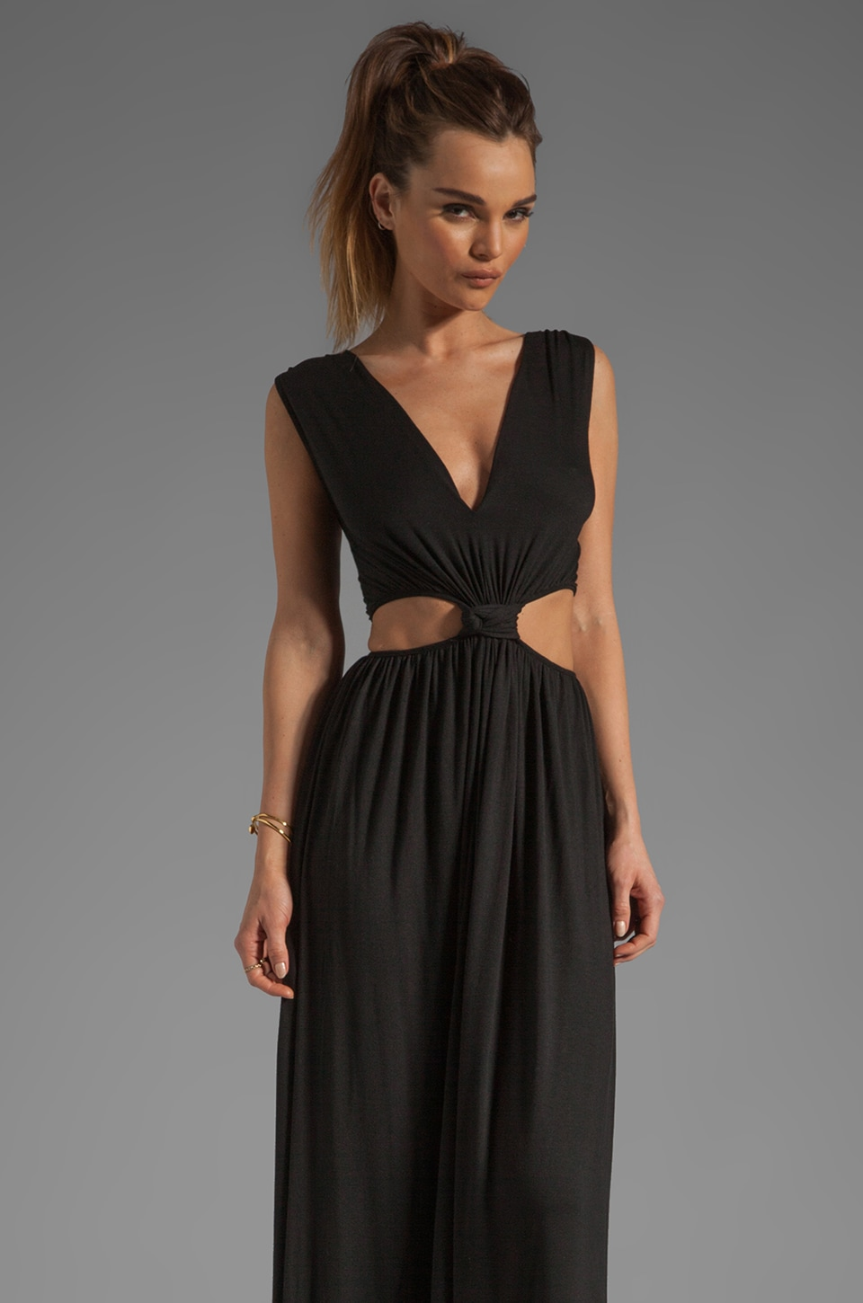 Rachel Pally Delmy Cut Out Maxi Dress in Rachel Pally Ursina Cold Shoulder Dress in Black