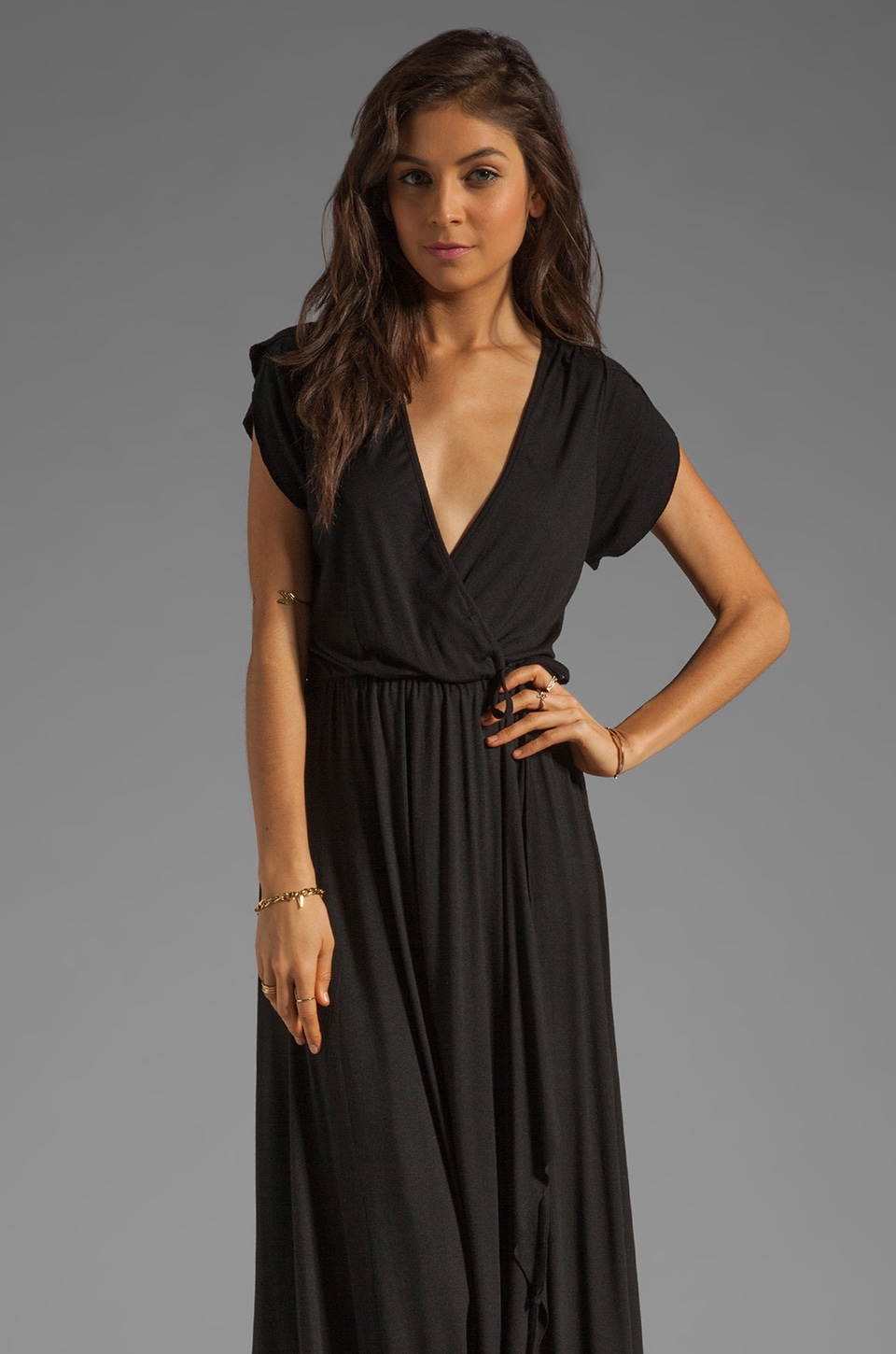 Rachel Pally Perpetua Wrap Dress in Black