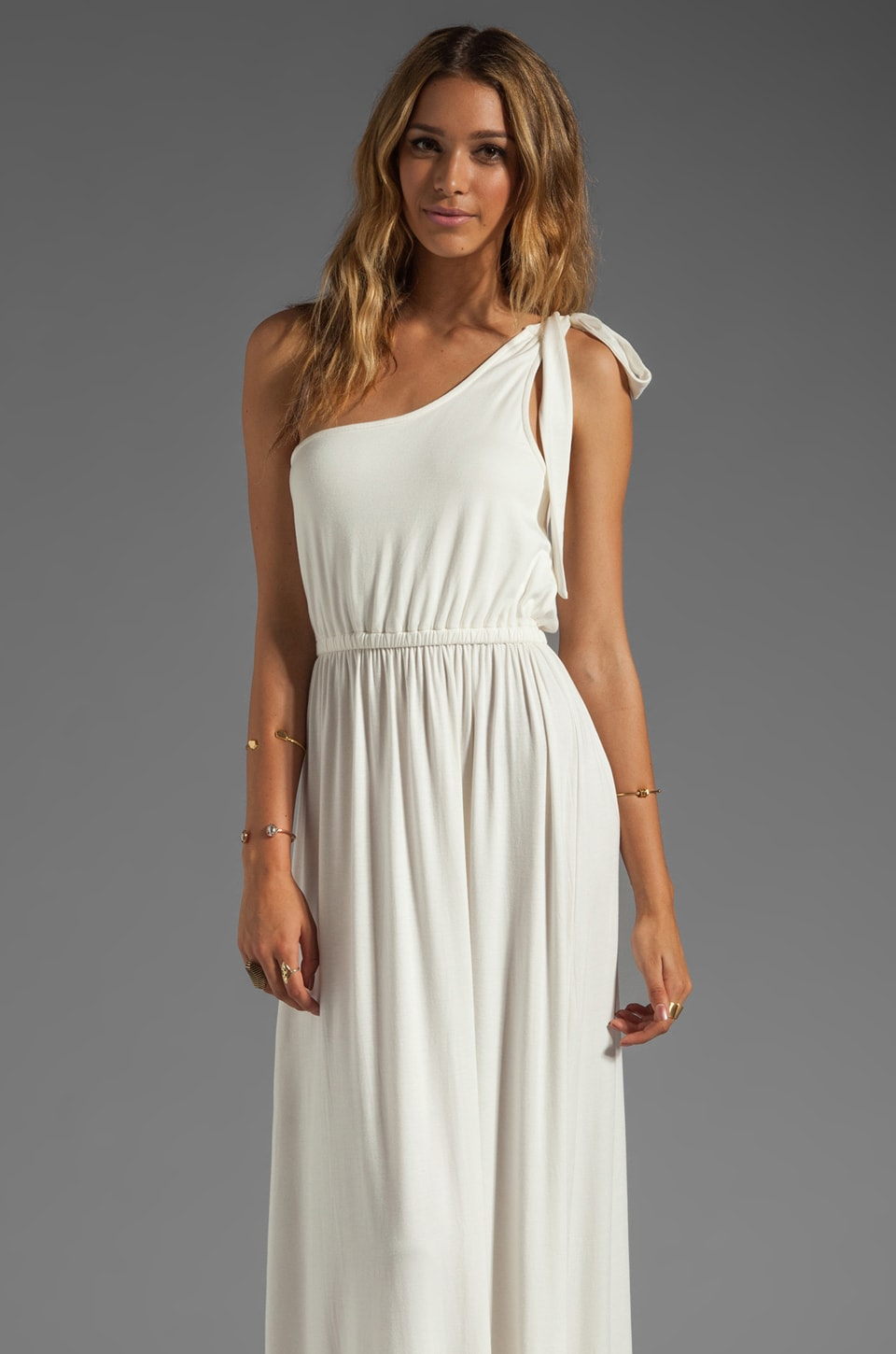 Rachel Pally Felix One Shoulder Dress in White