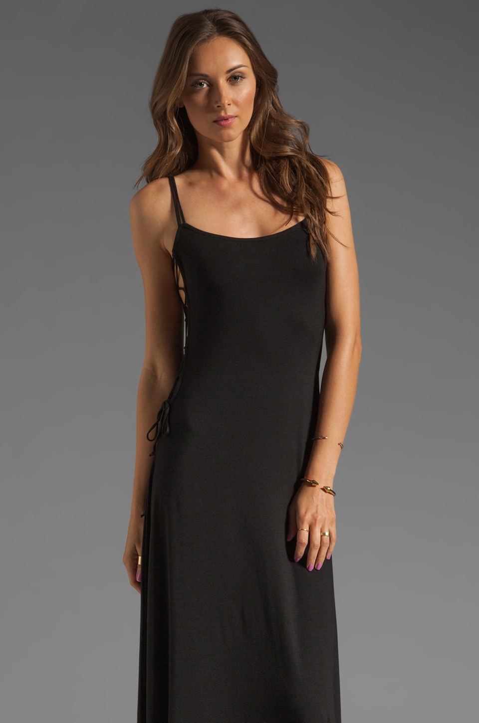 Rachel Pally Jayden Tie Side Dress in Black