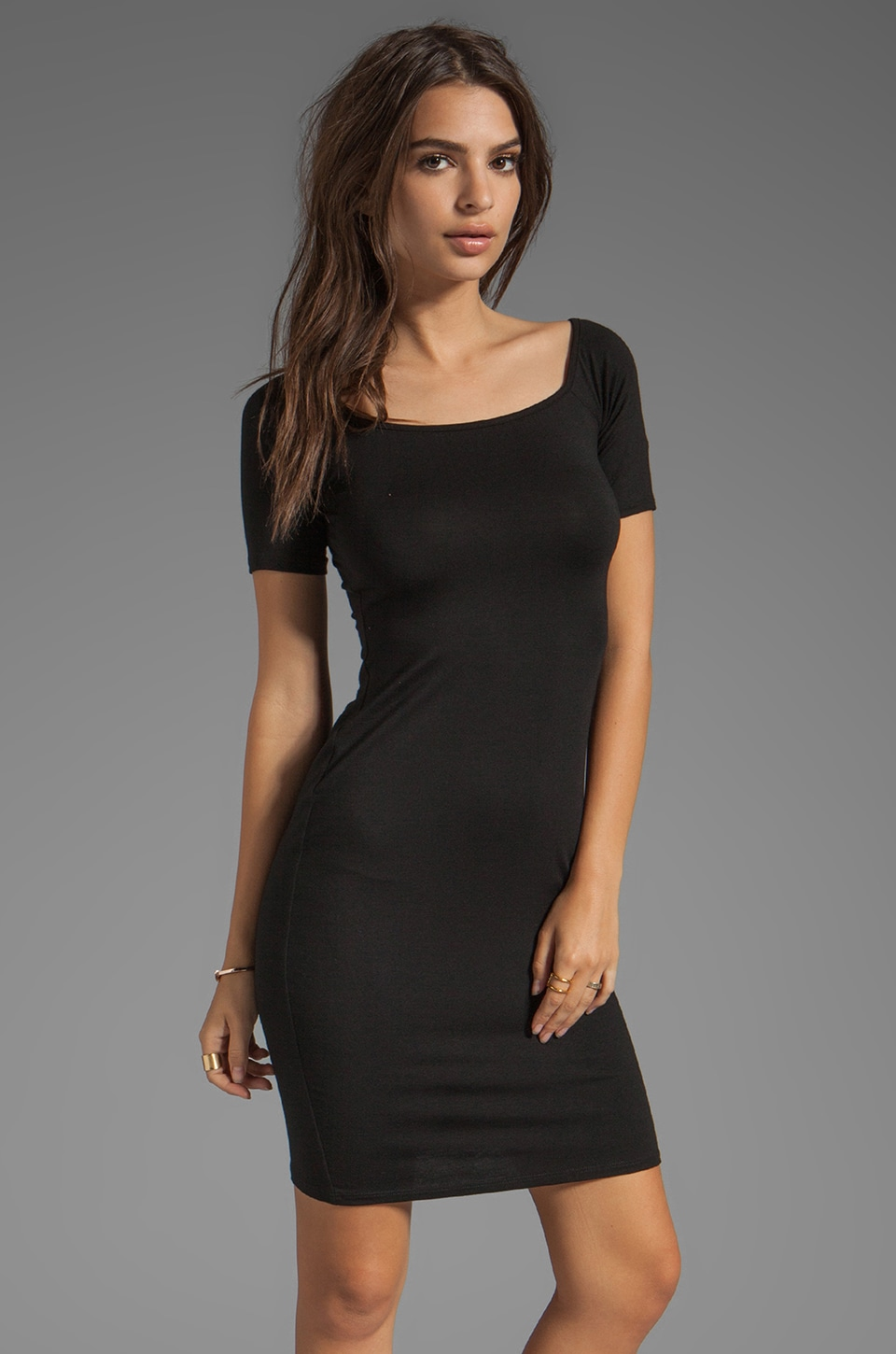 Rachel Pally Short Sleeve Jagger Dress in Black