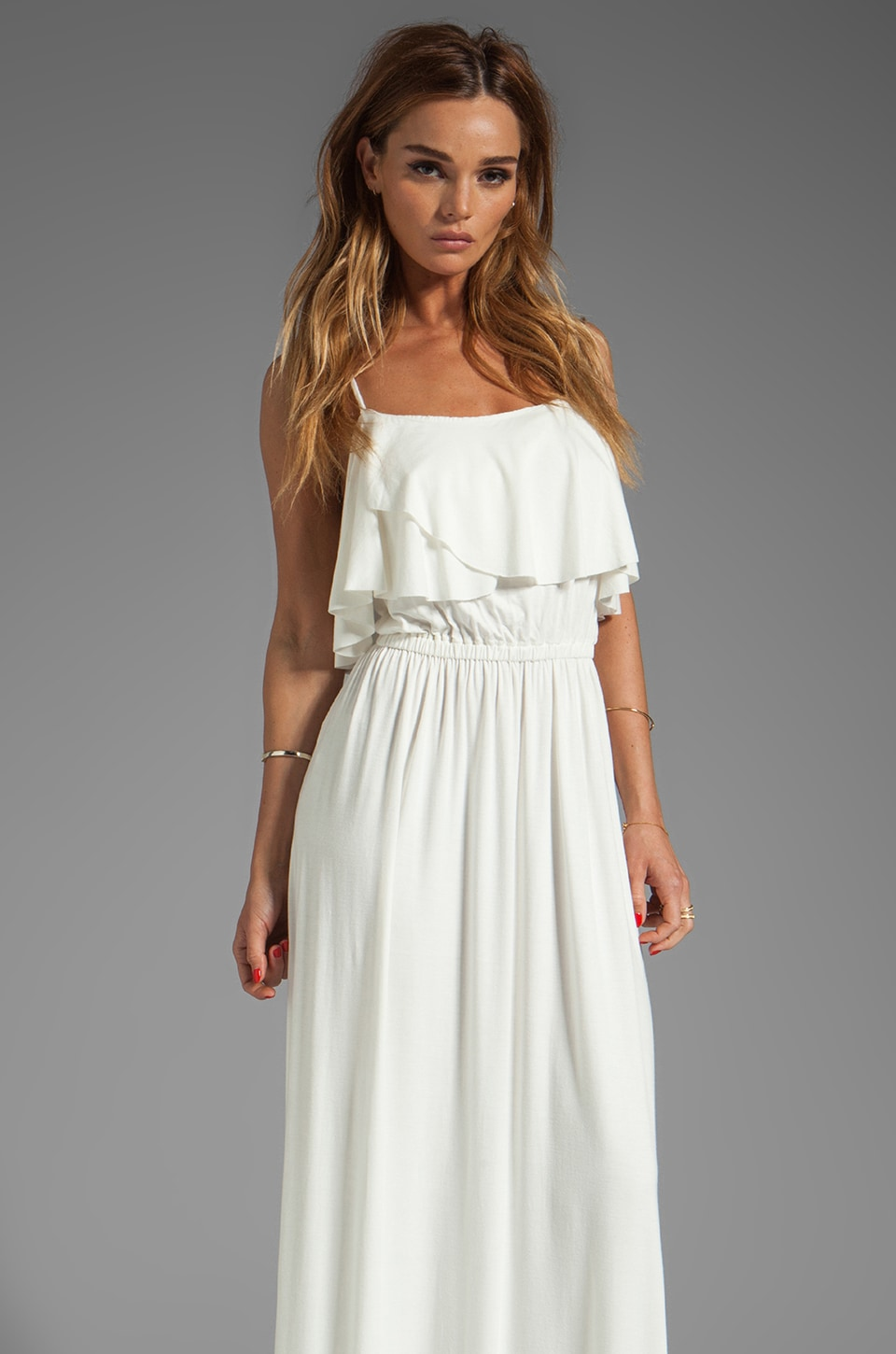 Rachel Pally Cloris Maxi Dress in White