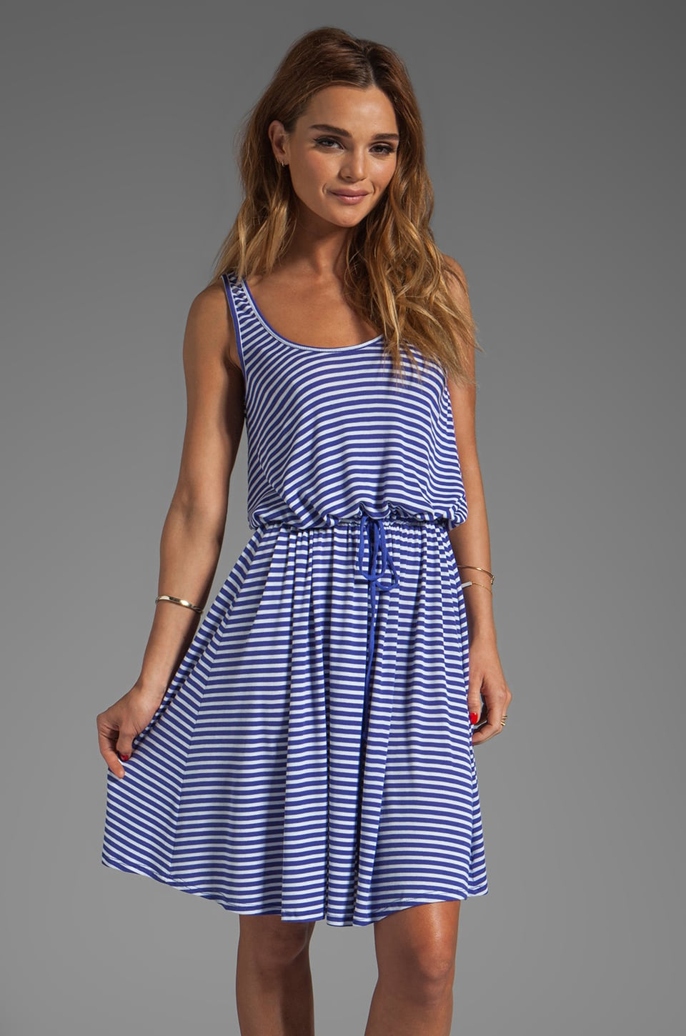 Rachel Pally Rib Freelove Tank Dress in River Stripe