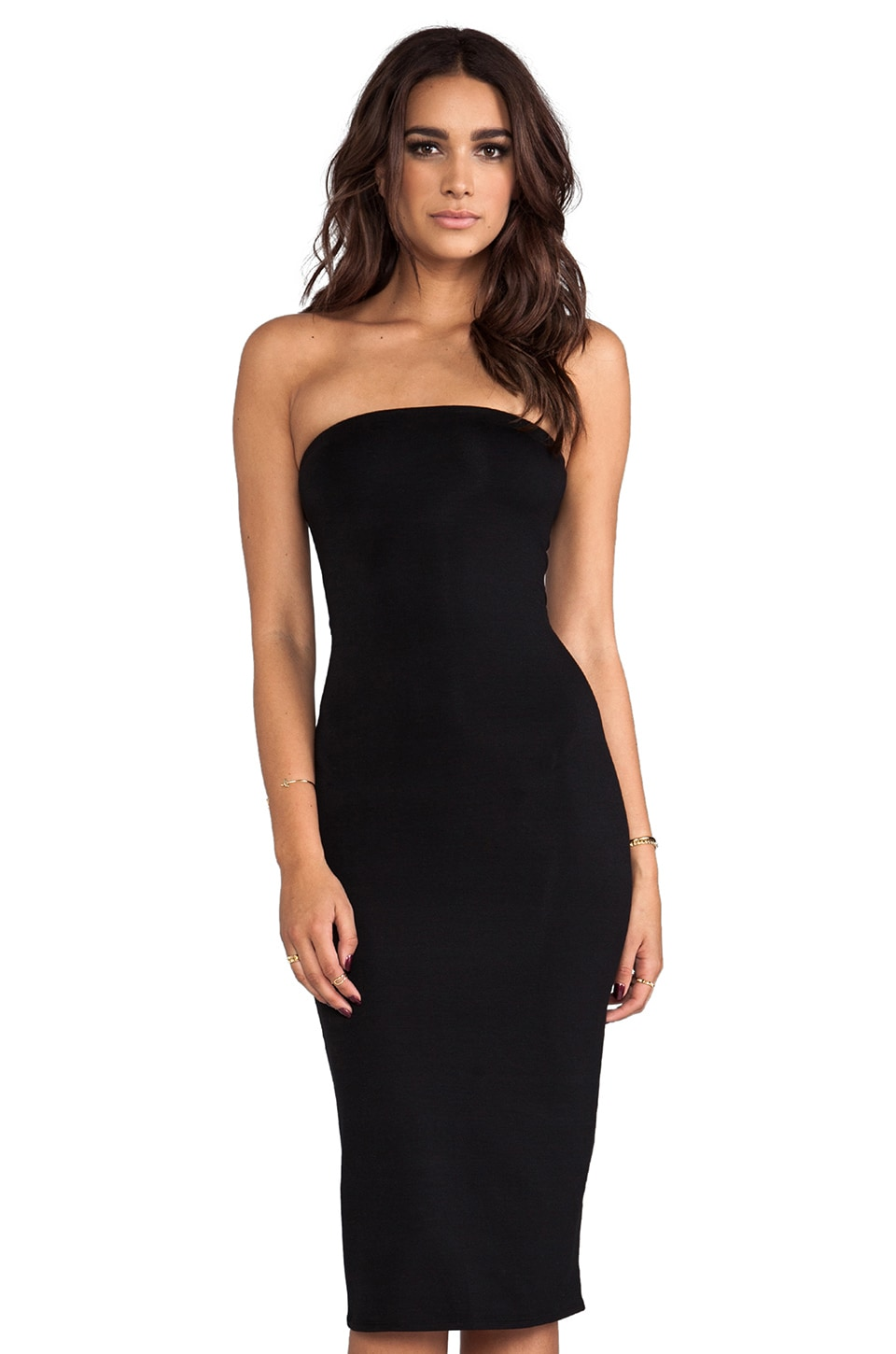 Rachel Pally Kris Strapless Dress in Black