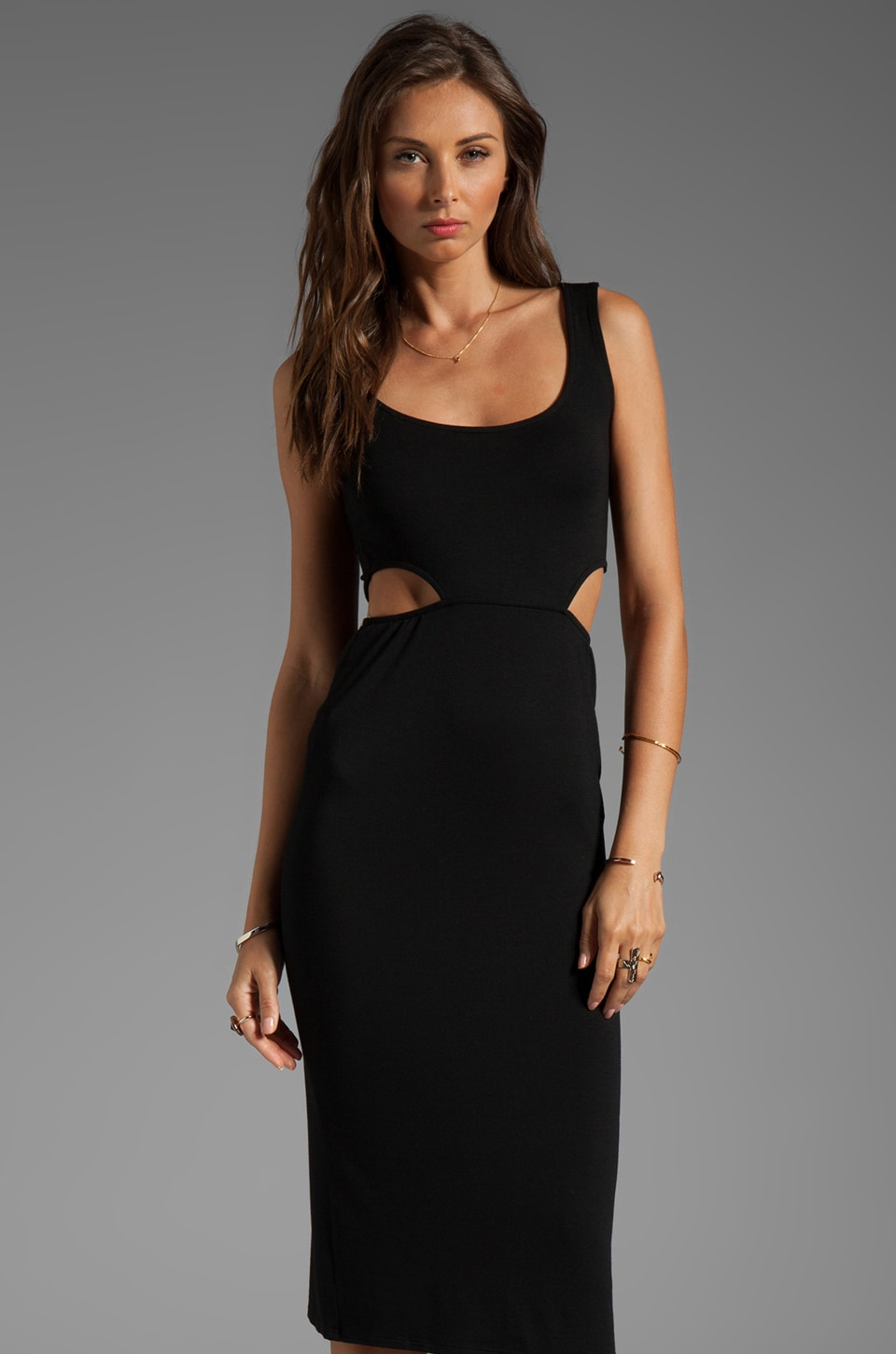Rachel Pally McKay Cut-out Dress in Black