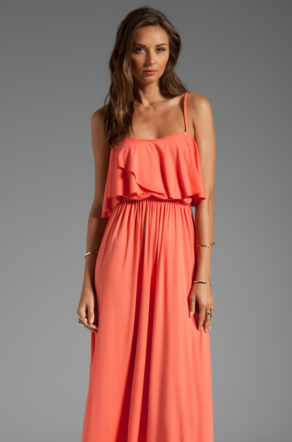 Rachel Pally Cloris Maxi Dress in Apricot
