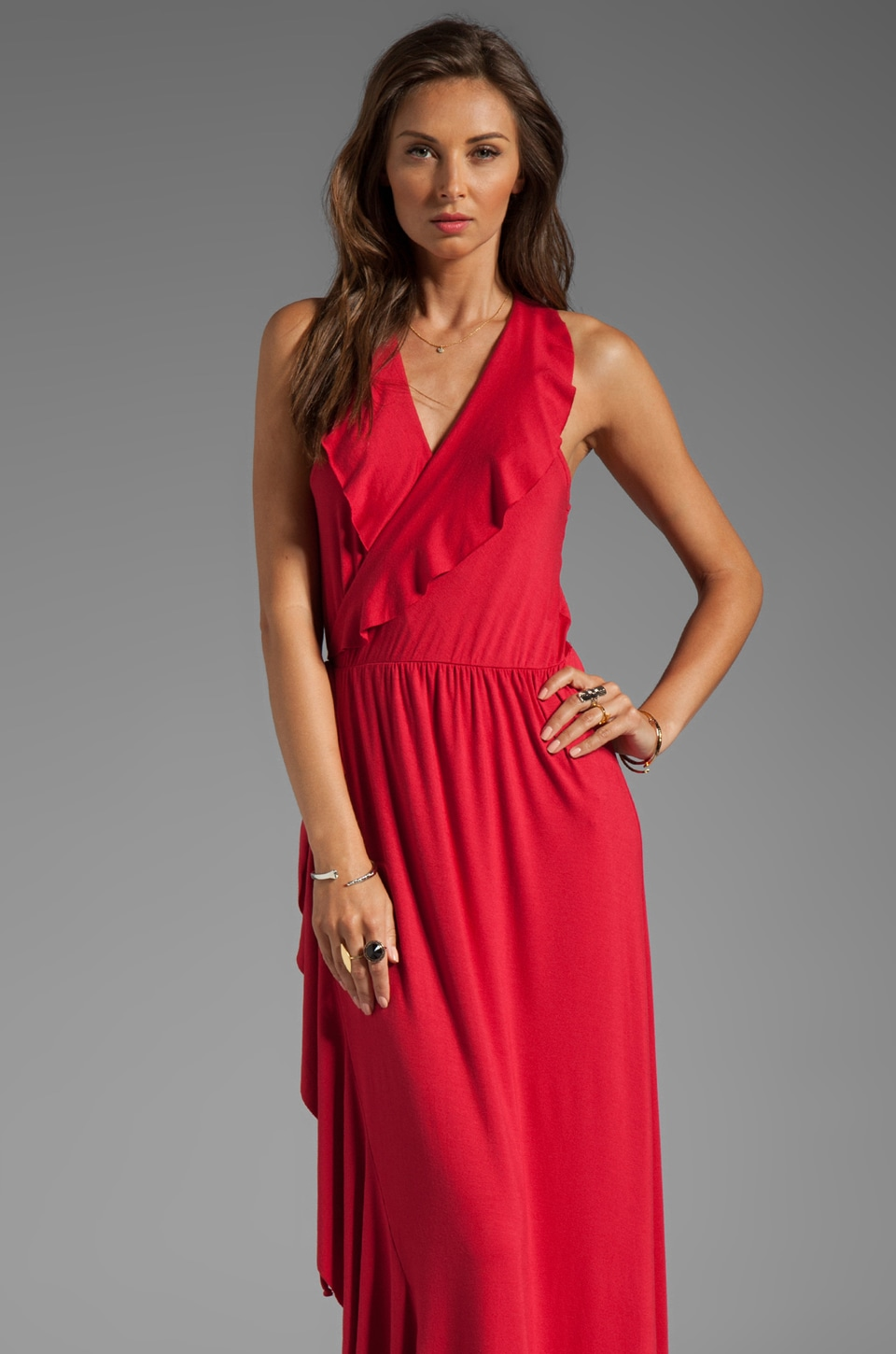 Rachel Pally Jovi Maxi Dress in Cranberry