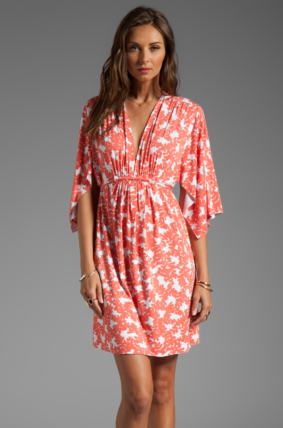 Rachel Pally Mini Caftan Dress in Apricot Bonsai