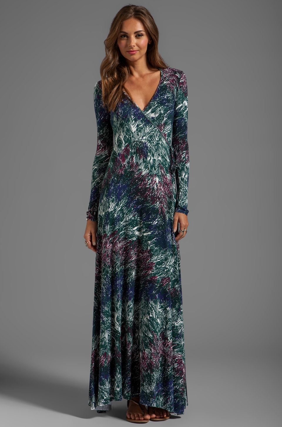Rachel Pally Long Wrap Dress in Anemone