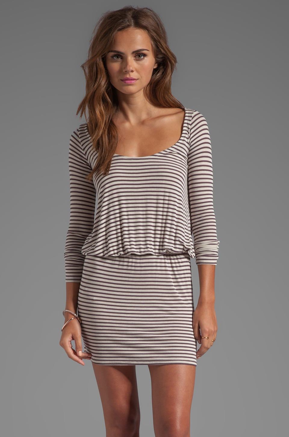 Rachel Pally Rib Hannah Dress in Alloy Stripe