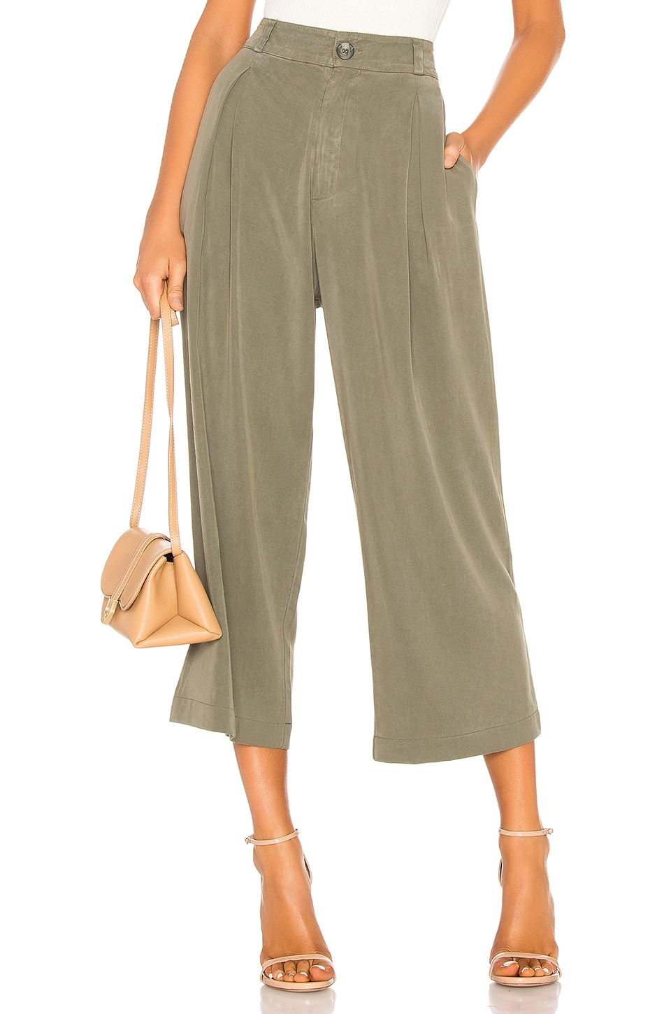 Rachel Pally Twill James Pant in Olive