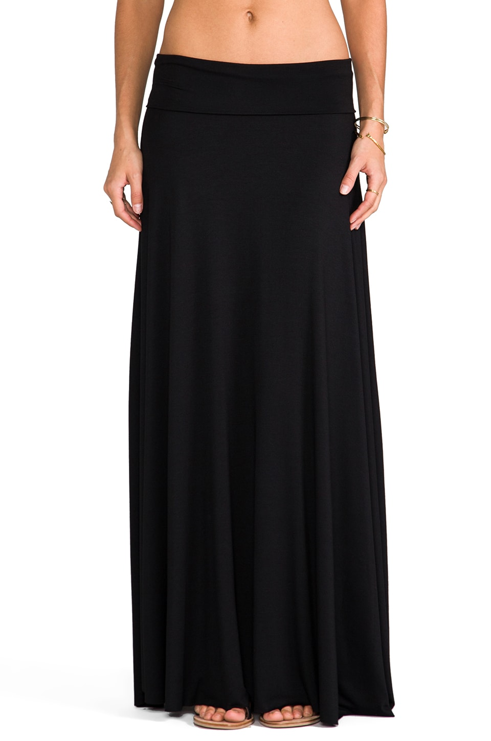 Rachel Pally Long Full Skirt in Black