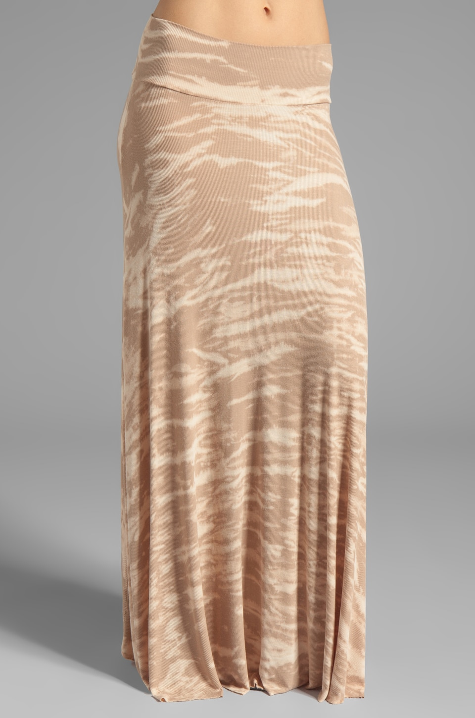 Rachel Pally Rib Long Full Skirt in Bamboo Tie Dye
