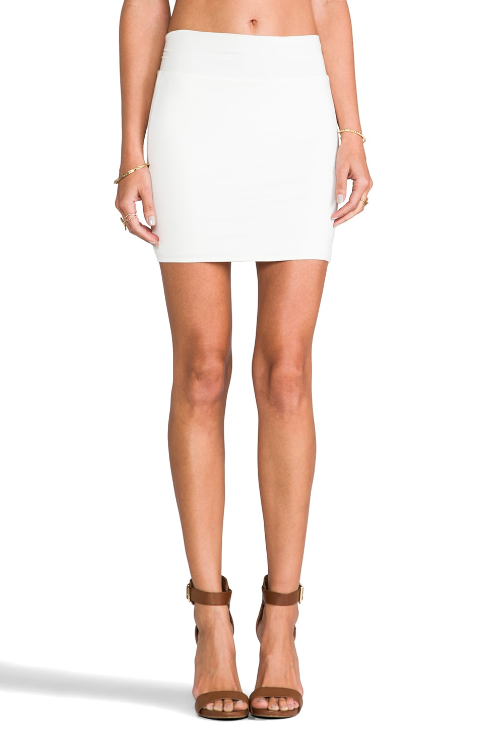 Rachel Pally Bandage Mini Skirt in White