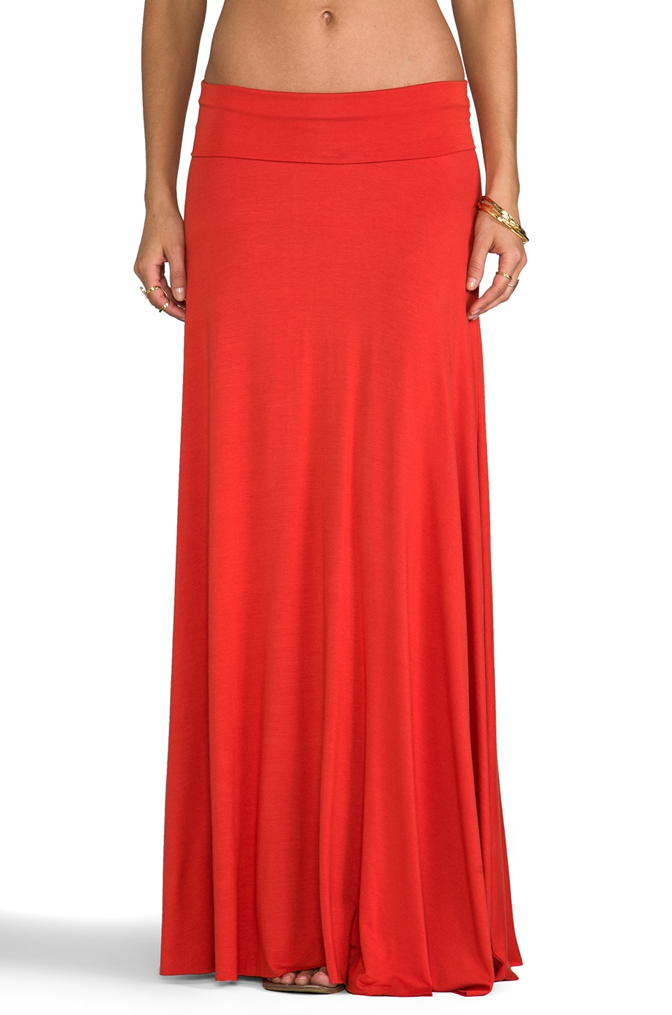 Rachel Pally Long Full Skirt in Lava