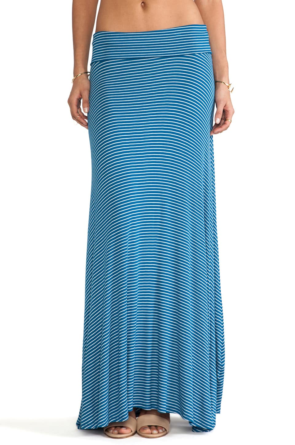 Rachel Pally Rib Full Long Skirt in Blue Stripe